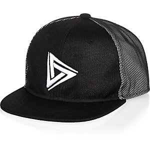 Boys black mesh cap