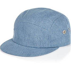 Boys blue denim cap