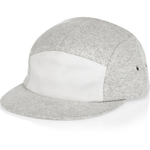 Boys light grey jersey cap