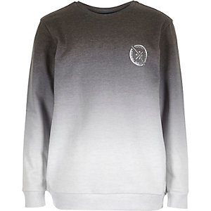 Boys grey faded sweatshirt