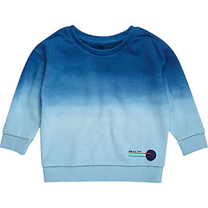 Mini boys blue faded sweatshirt