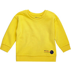 Mini boys bright yellow sweatshirt