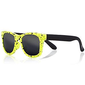 Mini boys yellow retro sunglasses
