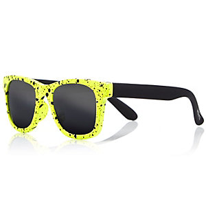 Mini boys yellow retro sunglasses