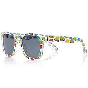 Boys blue truck wayfarer-style sunglasses
