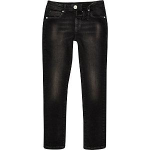 Boys black washed Sid skinny jeans