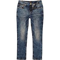 Boys marble wash Sid skinny stretch jeans