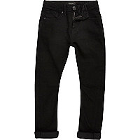 Boys black Chester tapered jeans