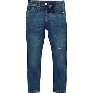 Boys petrol blue Sid skinny stretch jeans