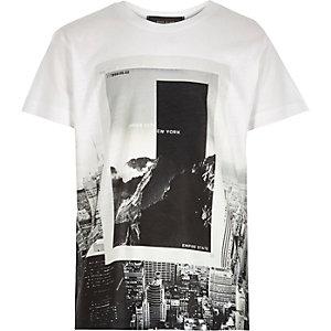 Boys black New York print t-shirt