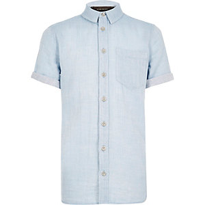 Boys light blue short sleeve shirt