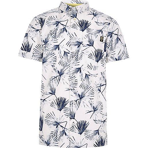 Weißes T-Shirt mit Löwenzahnmuster