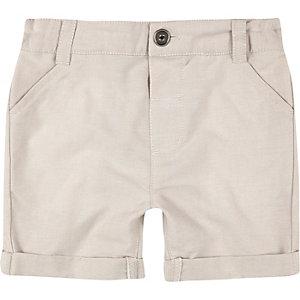 Mini boys cream shorts