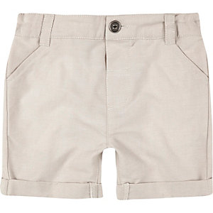 Mini boys cream shorts