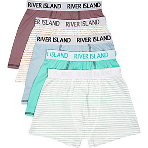 Boys stripe mixed boxers pack