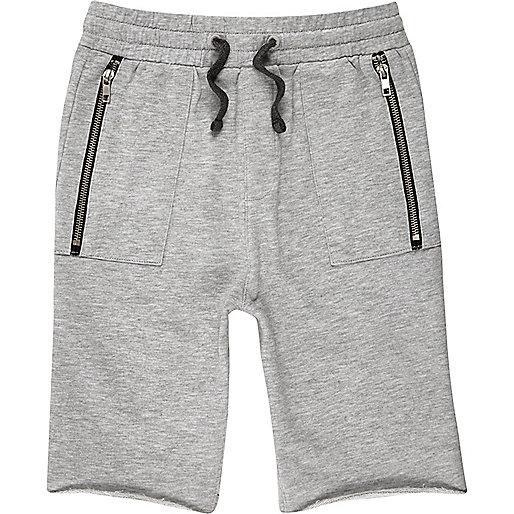 Boys grey drop crotch shorts