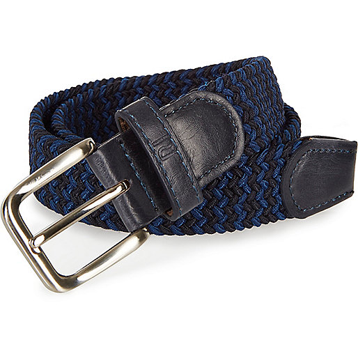 Boys blue zig zag belt
