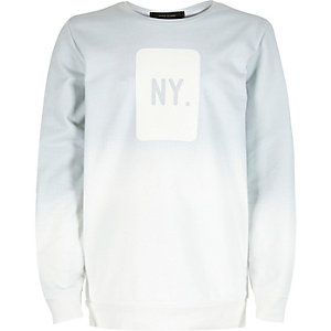 Boys white faded NY sweatshirt