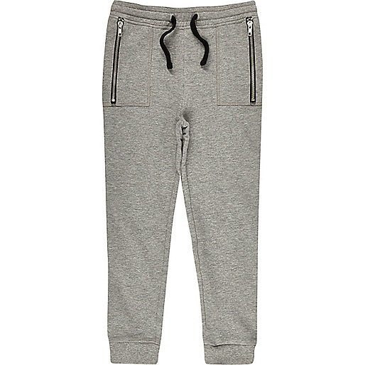 Boys grey dropped crotch joggers