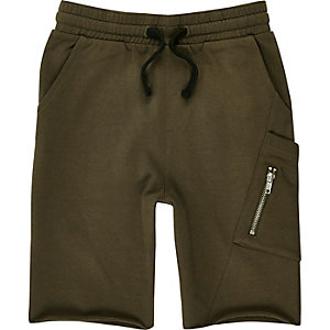 Boys khaki jersey shorts