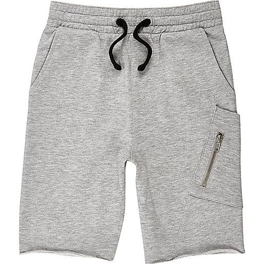 Boys grey marl jersey shorts