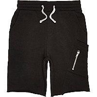 Boys black jersey shorts