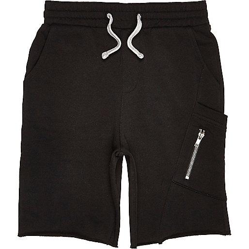 Schwarze Jersey-Shorts