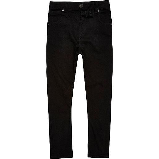 Boys black Tony slouch fit jeans