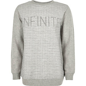 Boys grey infinite sweatshirt