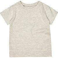 Mini boys cream textured t-shirt