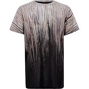 Boys brown faded print t-shirt