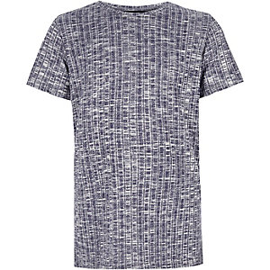 Boys blue ribbed t-shirt