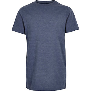 Boys navy textured t-shirt