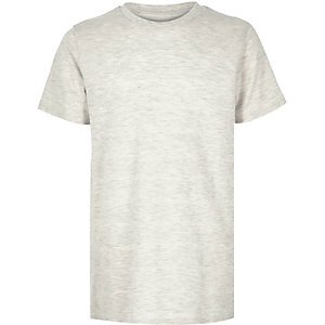 Boys ecru textured t-shirt