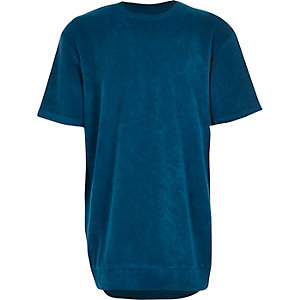 Boys blue towelling t-shirt