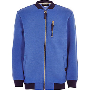 Boys blue zip bomber jacket