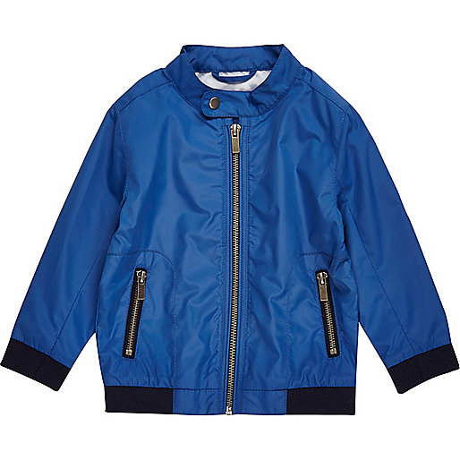 Mini boys blue bomber jacket
