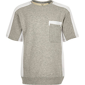 Boys grey sporty short sleeve sweatshirt