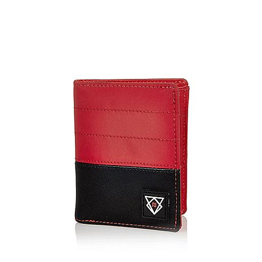 Portefeuille en nylon rouge pour garçon