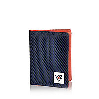 Boys navy nylon wallet