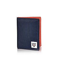 Boys navy nylon wallet