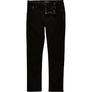 Boys black contrast stitch skinny jeans