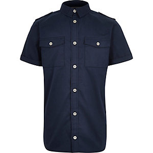 Boys navy utility shirt