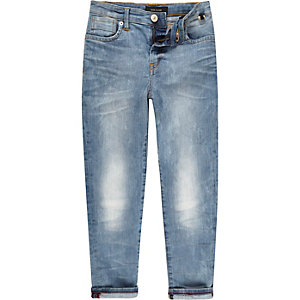 Boys mid wash Dylan slim jeans
