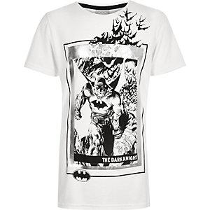 Boys white Batman foil print t-shirt