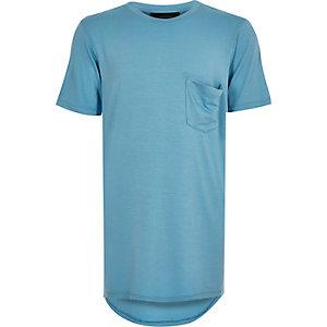 Boys blue longline t-shirt