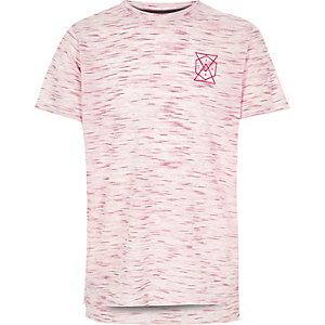 Boys pink chest print t-shirt
