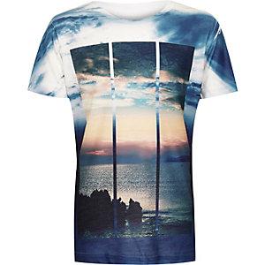 Boys blue scenic print t-shirt