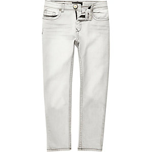 Boys light grey Dylan slim jeans