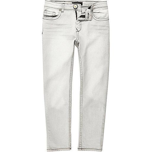 Boys light grey Dylan slim jeans